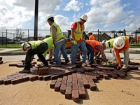 Freedman's Town brick replacement