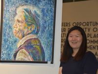 Young Artist Lillian Zhao with her First Place Work